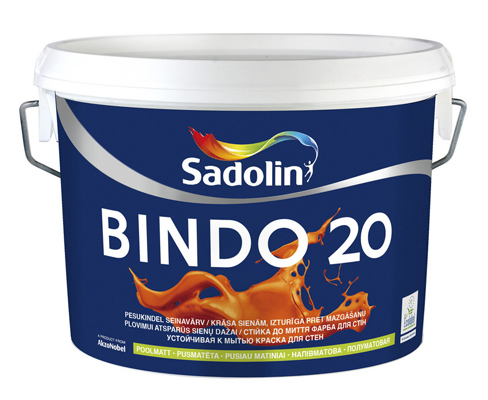 Краска для стен и потолков Садолин Биндо 20 Sadolin Bindo 20