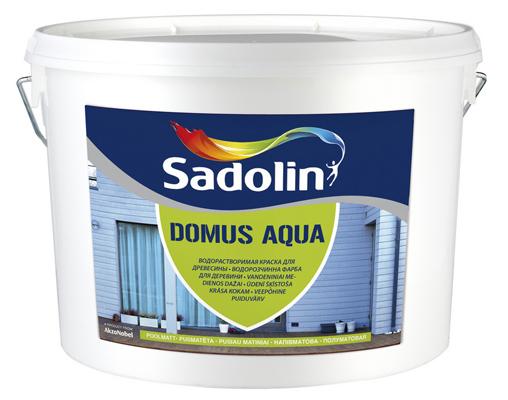 Краска для дерева Садолин Домус Аква Sadolin DOMUS AQUA